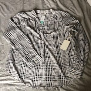 NWT houndstooth silky top - sz XL